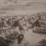 Palestijnse vluchtelingen in de winter van '48 - '49, in Noord-libanon (uit: Charles D. Smith)
