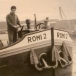 Palestijnse werknemer op een binnenvaartschip van de Vlaardingse ROMI-fabriek; jaren '60