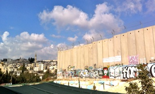 De muur bij Bethlehem