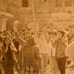 Demonstratie voor de intifada: Palestijnse christelijke vrouwen in Bayt Sahur; 1988 bron: Smith, Palestine and the Arab-Israeli Conflict