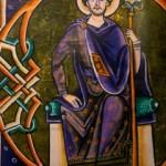 Koning Salomo, volgens een 12e eeuwse boekillustrator die niet twijfelde aan de wijze koning als historische figuur