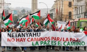 Demonstratie in Valparaiso, Chili
