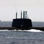Door Duitsland aan Israël geleverde Dolphin onderzeeër; geschikt voor lancering van kernraketten