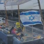 Israëliërs langs de grens met Gaza, onder 'Hamasbombardementen'