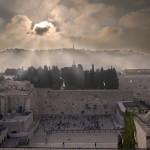 Jeruzalem zonder Klaagmuur, foto verspreid door legerrabbinaat (bron: Electronic Intifada)