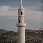 Blik vanuit al-Sawiya op Israelische nederzetting Eli.