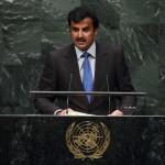 De emir van Qatar in de VN