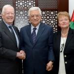 carter, Abbas en Brundtland (Ma'an News)