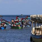 Gaza: welkomstcomite staat (symbolisch) klaar (foto: MEE)