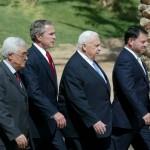 Abbas, Bush, Sharon, Abdullah (2003); wie legde het meeste gewicht in de schaal?