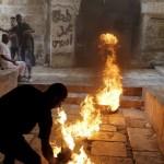 Palestijnse jongeren in Oost-Jeruzalem, gisteren