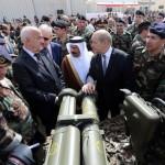 Wapens voor Libanon. Overhandiging van Franse wapens ter waarde van 3 miljard dollar, betaald door Saudi-Arabie op 25 april 2015.