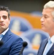 Kamerleden Kuzu (DENK) en Wilders (PVV) in september 2016.